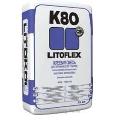 Клей плиточный ЛИТОКОЛ К80,  25 кг