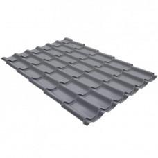 Металлочерепица Grand Line Квинта+, Quarzit RAL 7024 серый графит, 0.5 мм