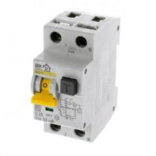 Автомат дифференциальный 1P+N IEK АВДТ32 C25 30мА, номинальный ток 25А
