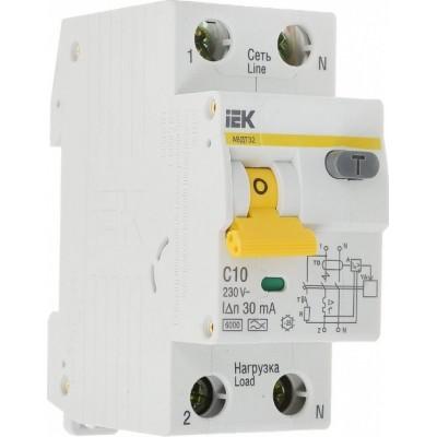 Дифференциальный автомат 1P+N IEK АВДТ32 С10/0.03А, номинальный ток 10А