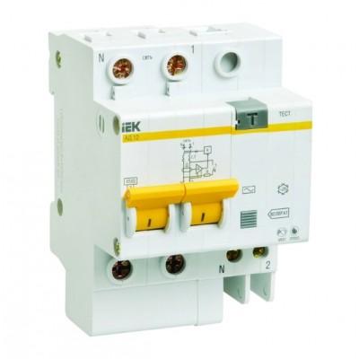 Автомат дифференциальный 2P IEK АД-12 C16 30мА, номинальный ток 40А