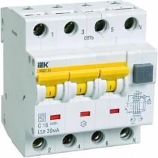 Автомат дифференциальный 3P+N IEK АВДТ-34 C10 10мА, номинальный ток 10А