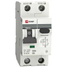 Автомат дифференциальный 2Р EKF АВДТ-63 30мА, номинальный ток 10А