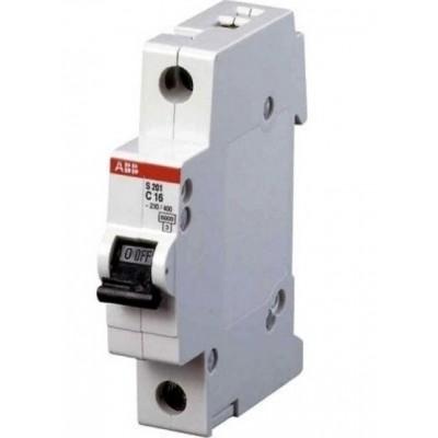 Выключатель автоматический ABB однополюсный S201 10А C 6кА (S201 C10) | 2CDS251001R0104
