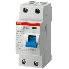 УЗО 2х-полюсное ABB F202 AC 40/0.1, номинальный ток 40А
