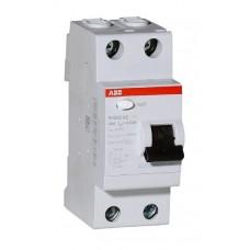 УЗО 2х-полюсное ABB F202 AC-40/0.03, номинальный ток 40А