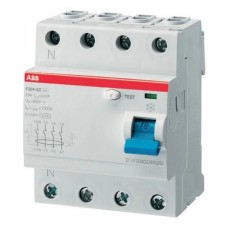 УЗО 4х-полюсное ABB F204 AC-100/0.3, номинальный ток 100А