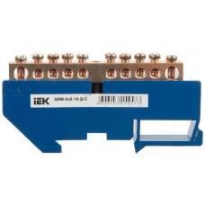 Шина нулевая IEK ШНИ-6х9-10-Д-С, 10 контактов