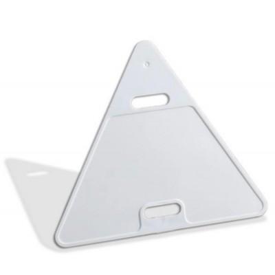Бирка кабельная У-136 треугольная жесткая, 60х60х60 мм