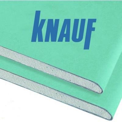 Гипсокартонный лист Knauf (КНАУФ) ГКЛВ 2500x1200x9,5 мм (3 м2) влагостойкий