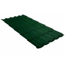Металлочерепица Grand Line Квинта+, Atlas RAL 6005 зеленый мох, 0.5 мм