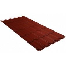 Металлочерепица Grand Line Квинта+, Velur RAL 3009 оксидно-красный, 0.5 мм