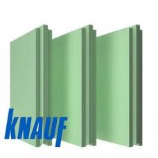 Пазогребневая гипсовая плита (ПГП) влагостойкая 667х500х100 мм Кнауф 33 кг/плита