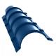 Планка конька круглого PURETAN R 110 х 2000, 0,5 мм, RR 35синий