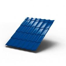 Металлочерепица МП ЛАМОНТЕРРА Colorcoat Prisma 0,5 мм, Met.Blue голубой металлик
