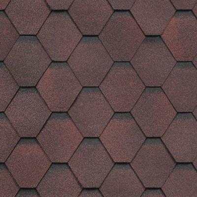 Гибкая черепица Технониколь Shinglas Кадриль, цвет Гранат, однослойная