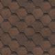 Гибкая черепица Технониколь Shinglas Финская Соната коричневый, однослойная