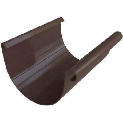 Жёлоб водосточный ПВХ, цвет коричнево-белый, длина 3м, диаметр 125 мм