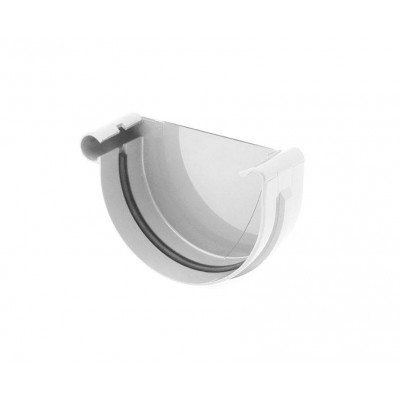 Заглушка желоба правая Bryza диаметр 100 мм RAL 9010