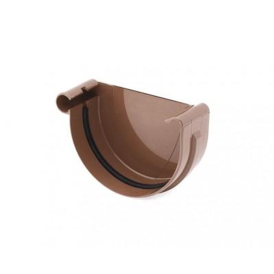 Заглушка желоба правая Bryza диаметр 100 мм RAL 8017