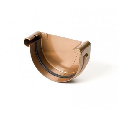 Заглушка желоба левая Bryza диаметр 150 мм Медь