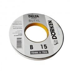 Лента двустороння бутилкаучуковая  Delta Butyl Band B15