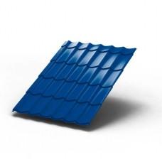 Металлочерепица МП ЛАМОНТЕРРА Colorcoat Prisma 0,5 мм, RAL 5005 синий насыщенный