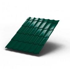 Металлочерепица МП ЛАМОНТЕРРА Colorcoat Prisma 0,5 мм, RAL 6005 зеленый мох
