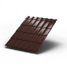 Металлочерепица МП ЛАМОНТЕРРА Colorcoat Prisma 0,5 мм, RAL 8017 коричневый шоколад