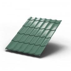 Металлочерепица МП ЛАМОНТЕРРА Colorcoat Prisma 0,5 мм, Pegasus светло-зеленый металлик