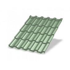 Металлочерепица МП ЛАМОНТЕРРА NormanMP 0,5 мм, RAL 6019 зеленая пастель