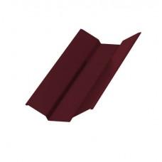 Планка ендовы верхняя Colorcoat Prisma 76х76х2000, RAL 3005 красное вино