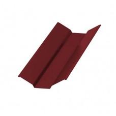 Планка ендовы верхняя Colorcoat Prisma 76х76х2000, RAL 3011 коричнево-красный