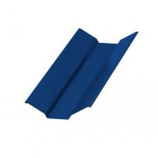 Планка ендовы верхняя Colorcoat Prisma 76х76х2000, RAL 5005 синий насыщенный