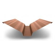 Планка ендовы верхняя AGNETA 76х76х2000, 0,5 мм, Copper медный