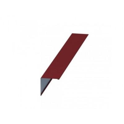 Планка конька плоского Colorcoat Prisma 150х150х2000, 0,5 мм, RAL 3011коричнево-красный