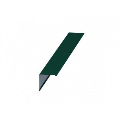 Планка конька плоского Colorcoat Prisma 150х150х2000, 0,5 мм, RAL 6005зеленый мох