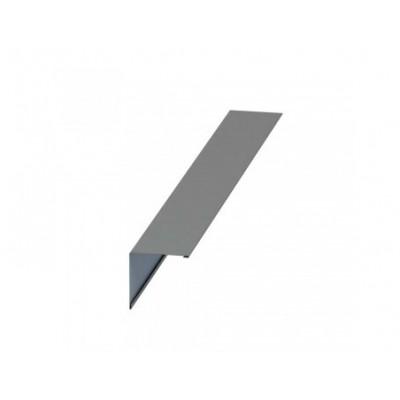 Планка конька плоского Colorcoat Prisma 150х150х2000, 0,5 мм, RAL 9006 белый алюминий