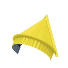 Заглушка конька круглого конусная NormanMP, 0,5 мм, RAL 1018 желтый цинк