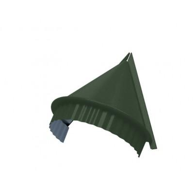 Заглушка конька круглого конусная PURETAN, 0,5 мм, RR 11 элегантный зеленый