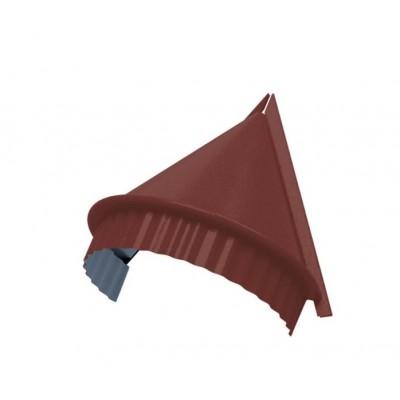 Заглушка конька круглого конусная PURETAN, 0,5 мм, RR 29 вишневый