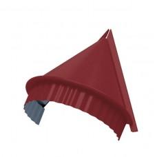 Заглушка конька круглого конусная Colorcoat Prisma, 0,5 мм, RAL 3011 коричнево-красный