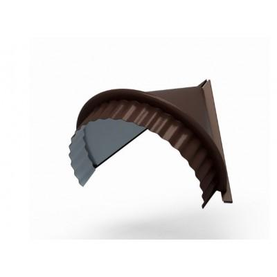 Заглушка конька круглого конусная PURETAN, 0,5 мм, RAL 8017 коричневый шоколад
