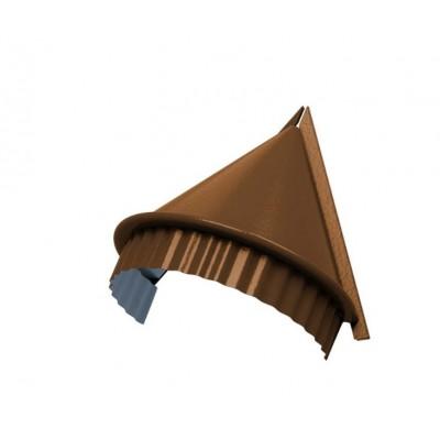 Заглушка конька круглого конусная PURMAN, 0,5 мм, Argillite медный металлик