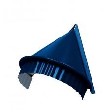 Заглушка конька круглого конусная Colorcoat Prisma, 0,5 мм, Atlantis темно-синий
