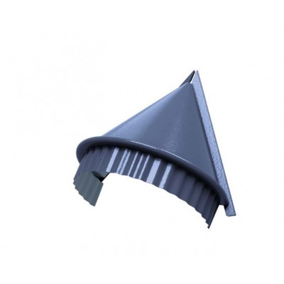 Заглушка конька круглого конусная PURMAN, 0,5 мм, Galmei сиреневый металлик