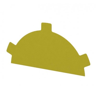 Заглушка конька круглого простая NormanMP, 0,5 мм, RAL 1018 желтый цинк