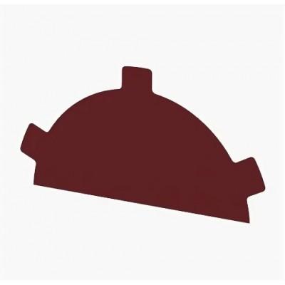 Заглушка конька круглого простая Colorcoat Prisma, 0,5 мм, RAL 3011 коричнево-красный