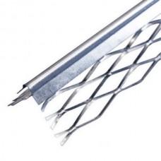 Уголок с сеткой оцинкованный (для мокрой штукатурки), 35х35 мм 3м