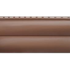 Акриловый сайдинг Альта профиль БЛОКХАУС Премиум, Красно-коричневый ВН-02 3100х320 мм